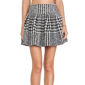 J.O.A. Plaid Tweed Mini Skirt